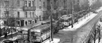 Kirkeveien 1950. Foto: Oslo Museum (croppet fra originalen)