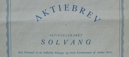 Redigert faksimile av aksjebrev fra Stein Jørgensen